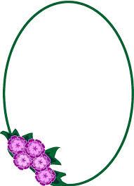 frame shape of flower clipart
