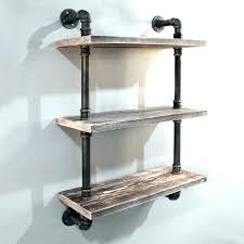 pipe wall shelves rustic industrial floating shelf black fittings