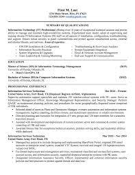 Military Resume Examples Sample Resume It Nco Cgo 2page Jobsxs Com