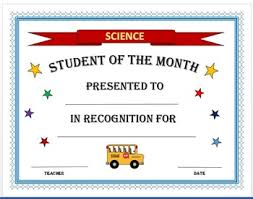 Student Of The Month Certificates Student Of The Month Certificates By The Science Shark Tpt