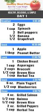 Healthy Meal Chart To Lose Weight Pin On Meal Plans