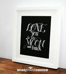 unique love you to the moon and back wall art 59 about remodel regarding i