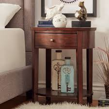 Fillmore 1-drawer Oval Wood Shelf Accent End Table by iNSPIRE Q Bold  (Espresso