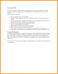 How To Write Counter Offer How To Write A Counter Offer Letter For A Salary Resume