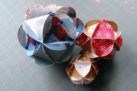 Paper Ball Christmas Decorations Paper Ball Ornament Tutorial Maker Mama 2