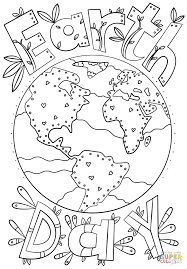 Earth Day Coloring Book At Kids Free Printable And Pages Fabulous