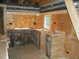 the entire cabinet structures were built with regular 2x4 lumber and plywood we covered the parts of the plywood that would be