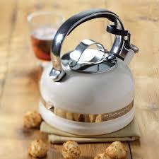 kitchenaid stove top whistling kettle almond cream amara