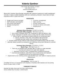 Sample Retail Store Manager Resume
