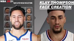 KLAY THOMPSON FACE CREATION NBA 2K21 ...