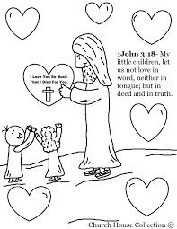Jesus Loves Children Coloring Pages