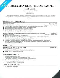 Sample Journeyman Electrician Resumes Industrial Electrician Cover Letter Examples Luxury Journeyman
