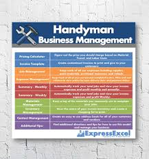 pricing calculator handyman repairman business management software job pricing calculator invoice template excel spreadsheet instant
