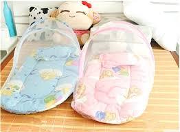 new born baby bed set baby bed pillow innovative infant cushion mattress bedding crib netting set