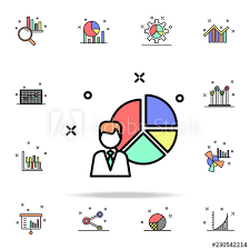 Characteristics Of Staff Diagram Pie Colored Icon Business