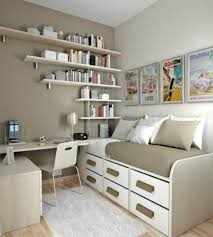 sweet decorating space saving office furniture. Catchy Teenager Bedroom Design Exposed Single Size Bed With Study Table In The Corner Also Sweet Decorating Space Saving Office Furniture T
