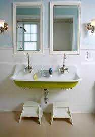 free up space with a wall mounted sink