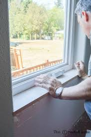 measure the window carefully for the inside trim you will need a width measurement a helpful trick if you are dealing with rounded corners is to hold a