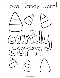 Small Picture I Love Candy Corn Coloring Page Twisty Noodle