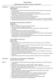 Customer Service Associate Resume Client Service Associate Resume Samples Velvet Jobs 7