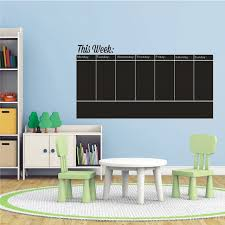Office Chalkboard Easy Write And Erase Weekly Calendar Blackboard Weekly Planner