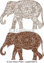 Elephant Pattern New Indian Elephant Patterns Silhouette Of A Elephant In The Indian