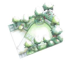 Small Picture Square Garden Plan The oval shaped lawn helps make the garden
