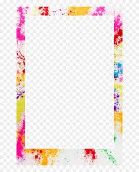 Glitter Borders And Frames Png Download Color Splash