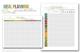 Meal Planning Printables Simply Bloom