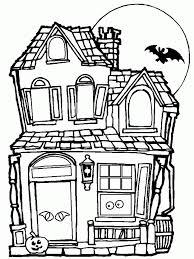 Small Picture Halloween Coloring Pages Haunted House Coloring Home