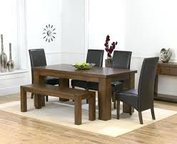 dark wood dining set x 4 brown chairs bench 0 dark wood dining table and 6