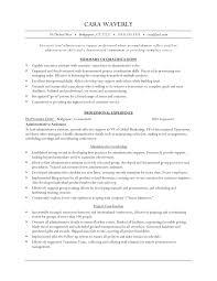 Executive Level Administrative Assistant Resume Example Vinodomia