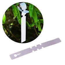 <b>100 pcs</b> White <b>PVC</b> Wrap Around <b>Plastic Plant Nursery</b> Garden ...