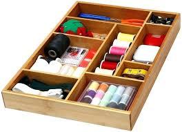 desk drawer organizer various home kitchen bamboo utility drawer organizer for kitchen bathroom office and cosmetics desk drawer organizer