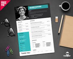 Unique Cv Format Download Simple Resume Design Free Psd Psddaddy Com