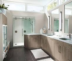 kitchen cabinets in bathroom. Modern Bathroom Cabinets In Thermofoil By Kitchen Craft Cabinetry