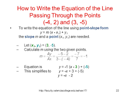 f13 how to write the equation of the line passing through the points