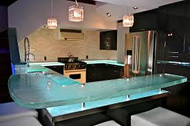 Image of: Glass Kitchen Countertop