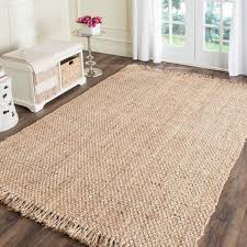 gallery of safavieh casual natural fiber hand woven light grey chunky clean 3 5 jute rug realistic 2