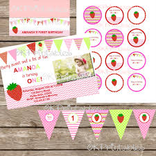 strawberry invitation birthday party printable chevron strawberry strawberry invitation birthday party printable chevron strawberry first birthday party strawberry chevron party invitation printable file