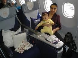 Settling into Lufthansa business class