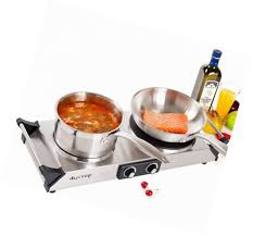 duxtop 1800w portable electric cast iron cooktop countertop burner double