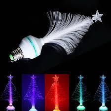 Christmas tree plastic fiber optic light changing color colorful RGB  lighting emitting Decorative Bulb Home Decoration