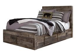 Derekson Rustic Modern Full Storage Bed with 6 Drawers by Benchcraft at Household Furniture