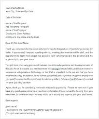 Thank You Letter After Job Interview Email Valid Post Emai