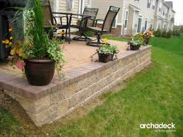 how to build a paver patio on sloped yard