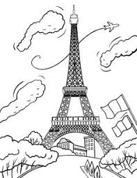 free eiffel tower coloring page