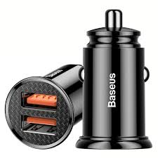 <b>Baseus</b> 30W <b>QC3</b>.<b>0 Dual</b> USB Car Charger for Phone / Tablet