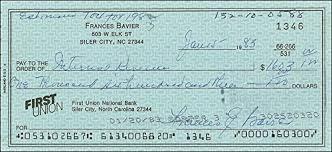 com Signed - Bavier Amazon 1983 Collectibles 15 Check 01 Frances E Entertainment