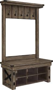 Hall Stand Entryway Coat Rack And Storage Bench Wildwood Wood Veneer Entryway Hall Tree with Storage Bench Movin 25